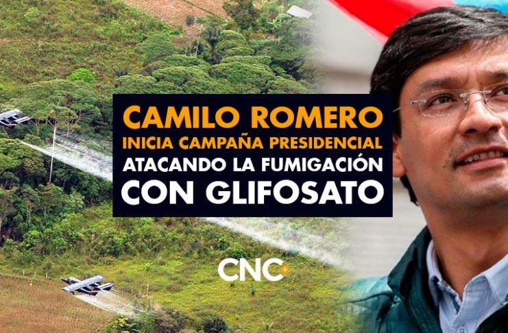 Camilo Romero inicia campaña presidencial atacando la fumigación con Glifosato