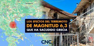 Los efectos del terremoto de magnitud 6,3 que ha sacudido Grecia