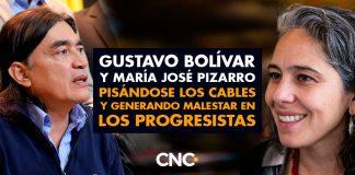 Gustavo Bolívar y María José Pizarro pisándose los cables y generando malestar en los progresistas