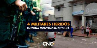 4 Militares heridos en zona montañosa de Tuluá