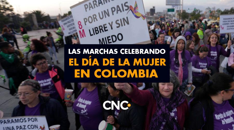 Las marchas celebrando el día de la MUJER en Colombia
