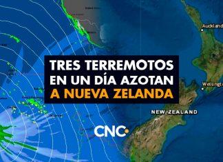 TRES Terremotos en un día azotan a NUEVA ZELANDA