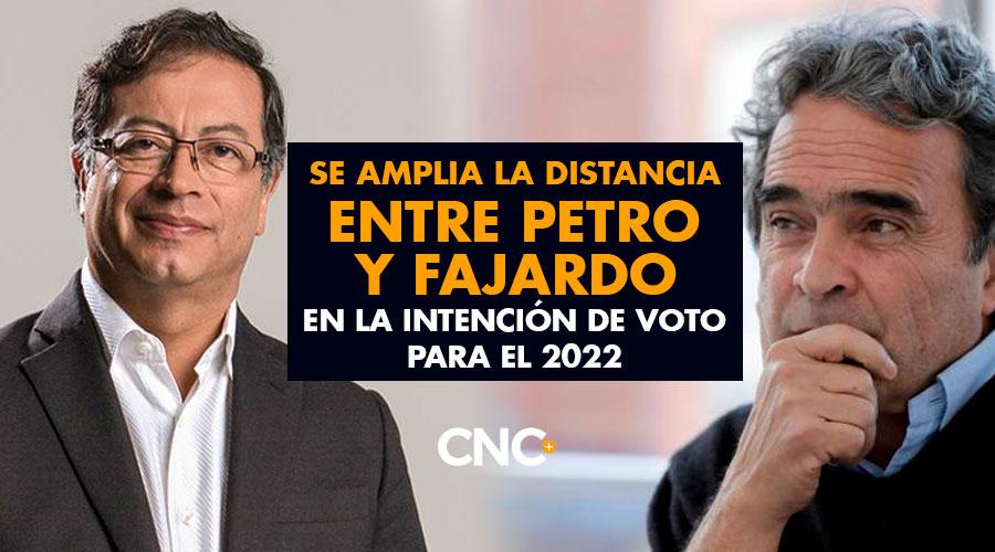 Se amplia la distancia entre Petro y Fajardo en la intención de voto para el 2022