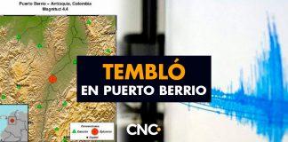 Tembló en Puerto Berrio