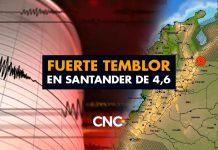 Fuerte temblor en Santander de 4,6