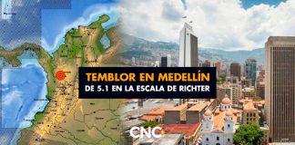 Temblor en Medellín de 5,1 sacude fuerte a la capital paisa