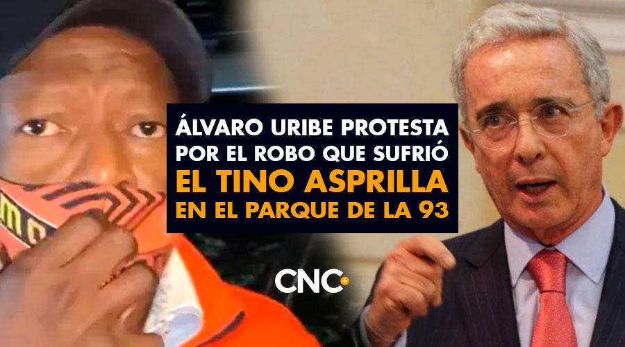 Álvaro Uribe protesta por el robo que sufrió el Tino Asprilla en el parque de la 93