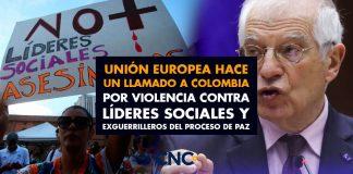 Unión Europea hace un llamado a Colombia por violencia contra líderes sociales y exguerrilleros del proceso de paz