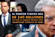 Al parecer fueron más de $40 millones los que se habrían pagado para manipular testigos de Uribe