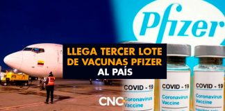 Llega Tercer lote de vacunas Pfizer al país