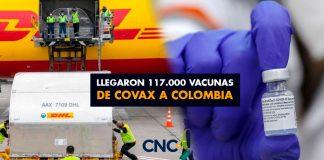 Llegaron 117.000 vacunas de Covax a Colombia