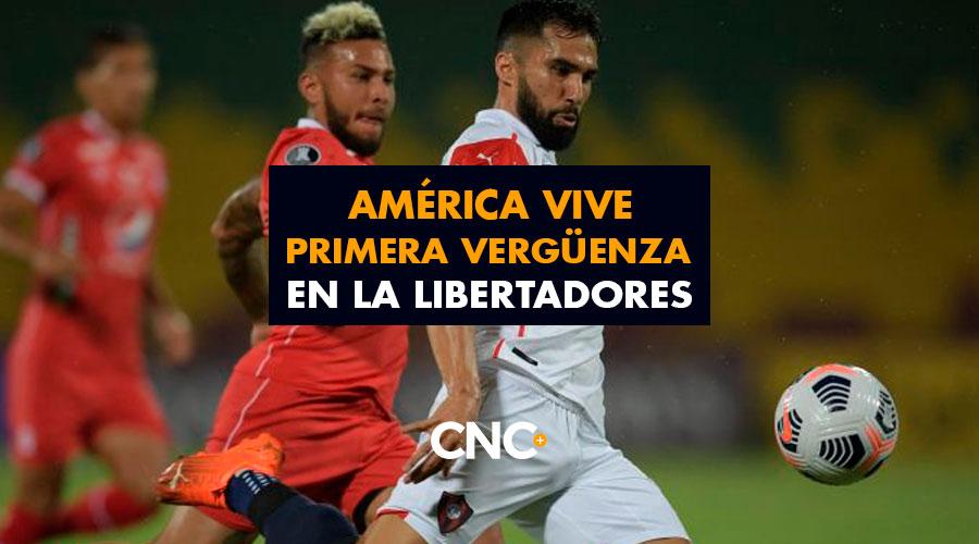 América vive primera vergüenza en la Libertadores