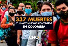 16.487 Nuevos Contagios y 337 Muertes por Covid en Colombia
