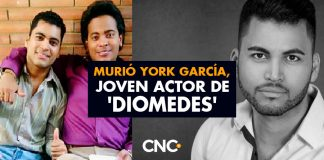 Murió York García, joven actor de 'Diomedes'