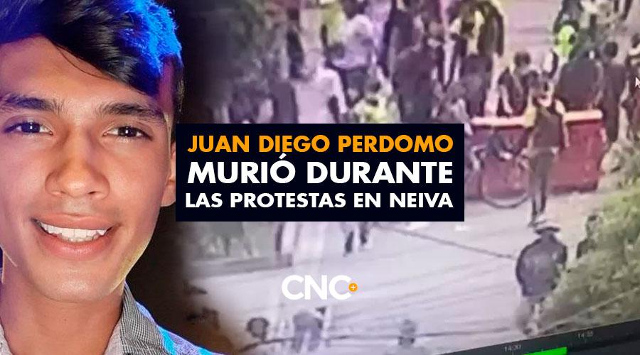 Juan Diego Perdomo MURIÓ durante las protestas en Neiva