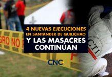 4 Nuevas Ejecuciones en Santander de Quilichao y las masacres continúan