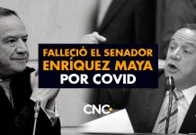 Falleció el senador conservador Enríquez Maya por covid
