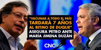 """""""Vacunar a todo el país tardará 7 años al ritmo de Duque"""" Asegura Petro ante María Jimena Duzán"""