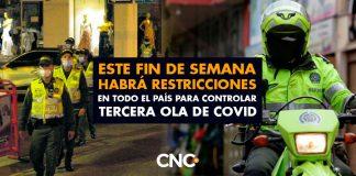 Este fin de semana habrá RESTRICCIONES en TODO EL PAÍS para controlar TERCERA OLA de Covid
