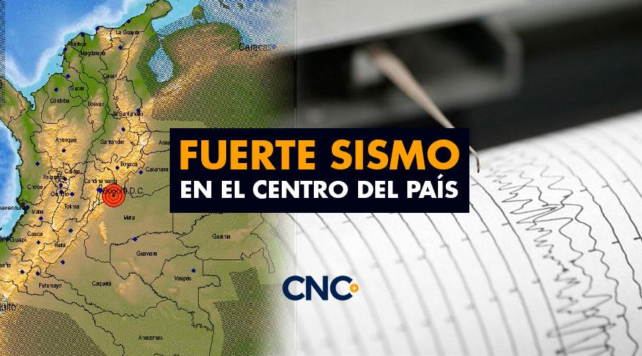 Fuerte sismo en el centro del país