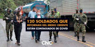 120 Soldados que retornan del Medio Oriente están contagiados de Covid