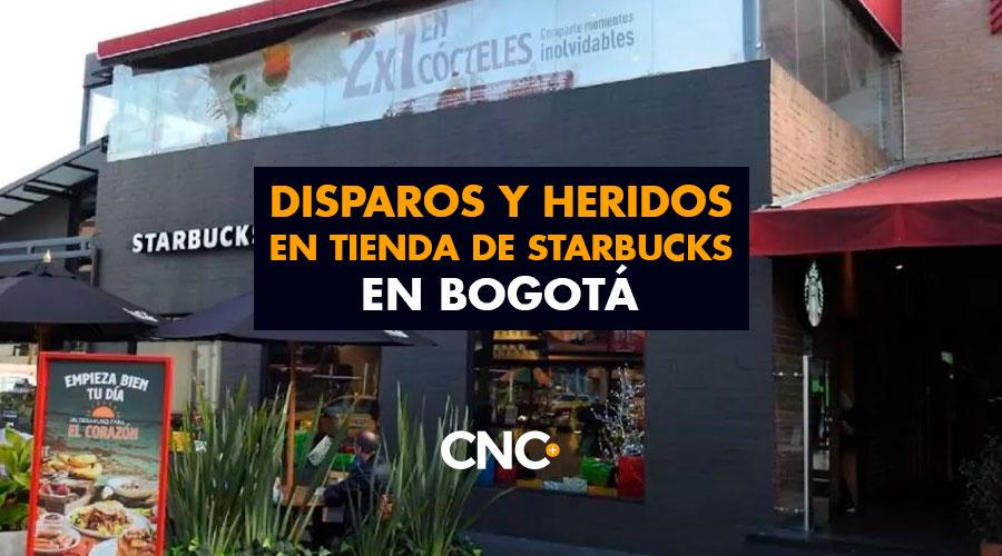 Disparos y Heridos en tienda de Starbucks en Bogotá