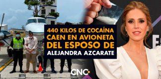 440 Kilos de Cocaína caen en Providencia en avioneta del esposo de Alejandra Azcarate