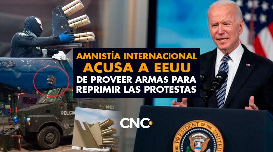 Amnistía Internacional acusa a EEUU de proveer armas para REPRIMIR LAS PROTESTAS