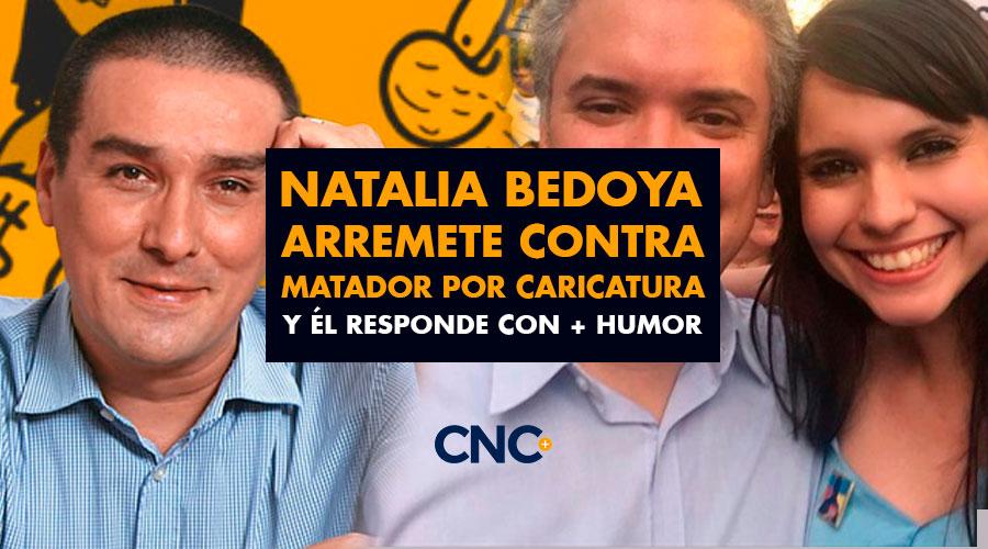 Natalia Bedoya arremete contra Matador por caricatura y él responde con + humor