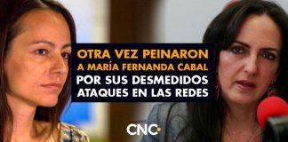 Otra vez PEINARON a María Fernanda Cabal por sus desmedidos ataques en las redes