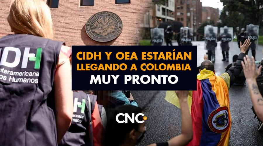 CIDH y OEA estarían llegando a Colombia muy pronto