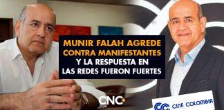 Munir Falah agrede contra manifestantes y la respuesta en las redes fueron fuertes