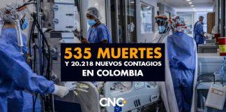 535 Muertes y 20.218 Nuevos Contagios en Colombia