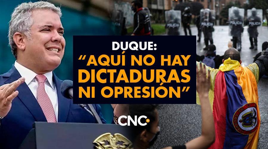 """Duque: """"Aquí no hay dictaduras ni opresión"""""""