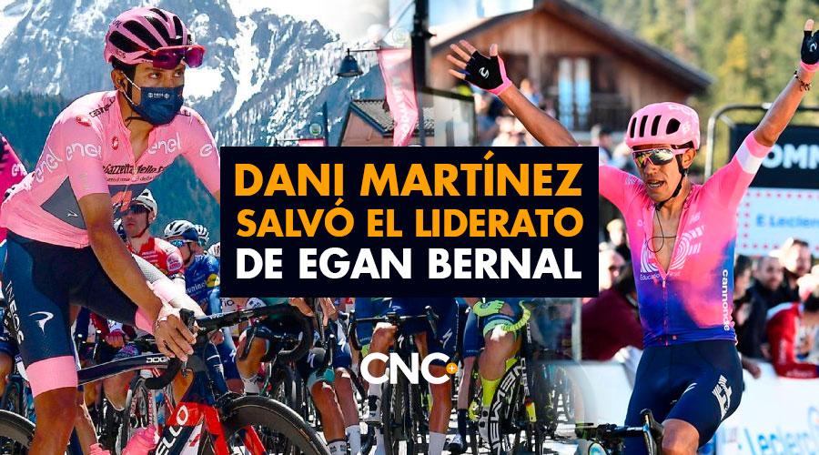 Dani Martínez salvó el liderato de Egan Bernal