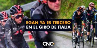 Egan ya es tercero en el Giro de Italia