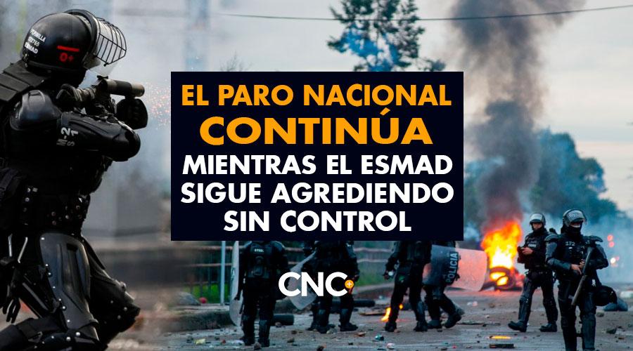 Cali: El PARO NACIONAL continúa mientras el ESMAD sigue agrediendo sin CONTROL