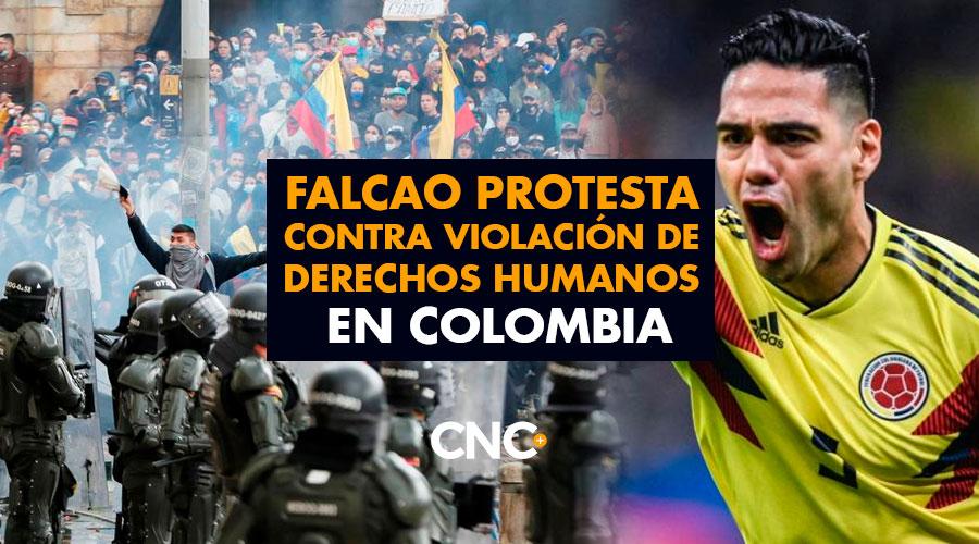Falcao protesta contra violación de derechos humanos en Colombia