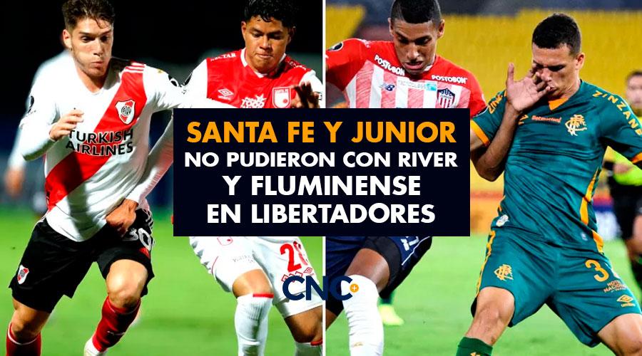 Santa Fe y Junior no pudieron con River y Fluminense en Libertadores