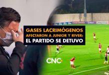 Gases lacrimógenos afectaron a Junior y River: el partido se detuvo
