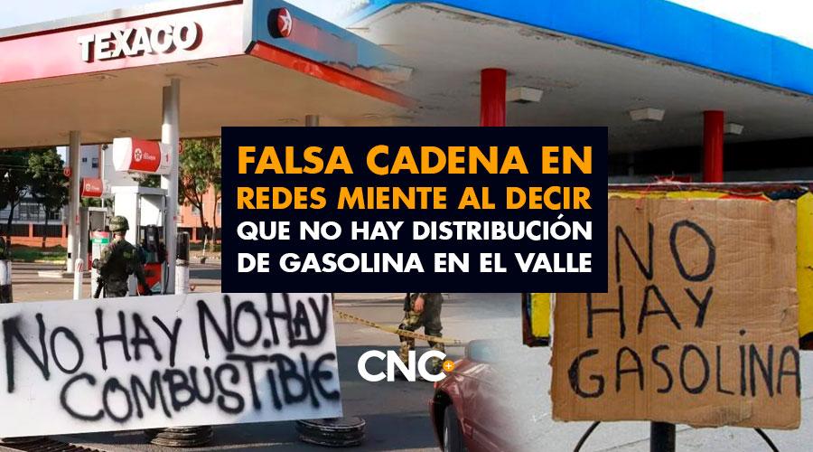 Falsa Cadena en redes miente al decir que no hay distribución de gasolina en el Valle