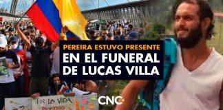 Pereira estuvo presente en el funeral de Lucas Villa