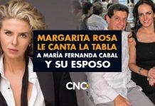 Margarita Rosa sin PELOS EN LA LENGUA le canta la tabla a María Fernanda Cabal y su esposo