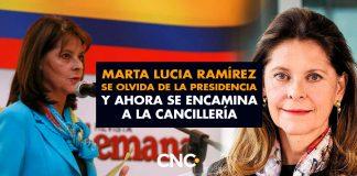 Marta Lucia Ramírez se olvida de la presidencia y ahora se encamina a la Cancillería