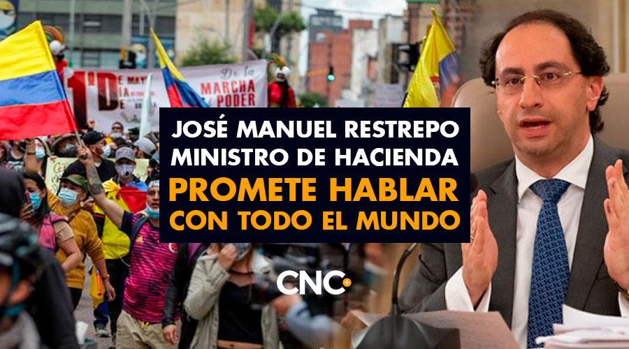 José Manuel Restrepo ministro de Hacienda promete hablar con todo el mundo