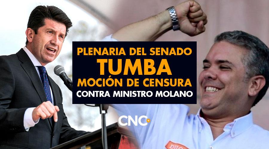 Plenaria del Senado TUMBA Moción de Censura contra Ministro Molano