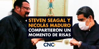 Steven Seagal Y Nicolás Maduro compartieron un momento de risas