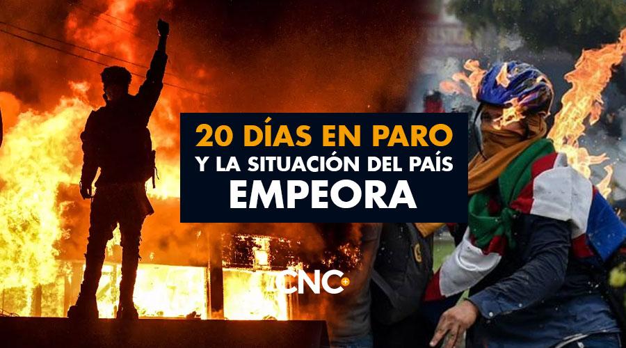 20 días en Paro y la situación del país empeora