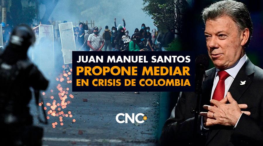 Juan Manuel Santos propone mediar en crisis de Colombia