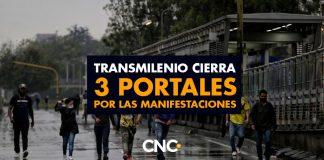 Transmilenio cierra 3 portales por las manifestaciones
